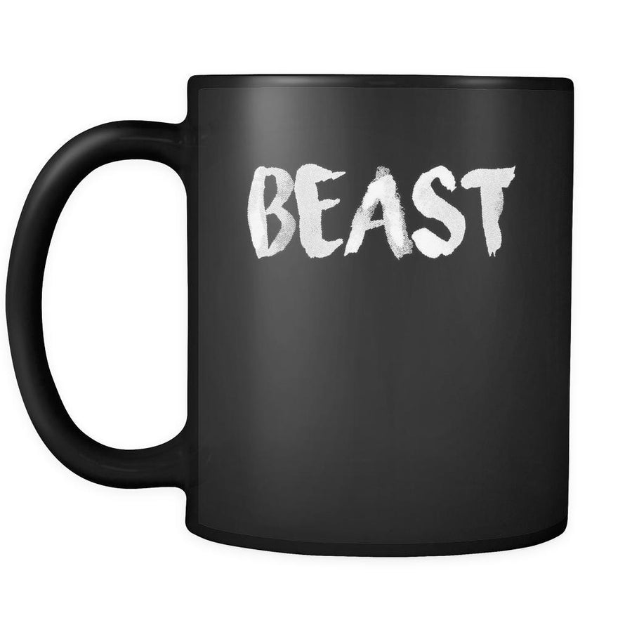 Valentine's Day Mug - Beast -Romantic Anniversary Gifts 11oz Black Coffee/Tea Cup