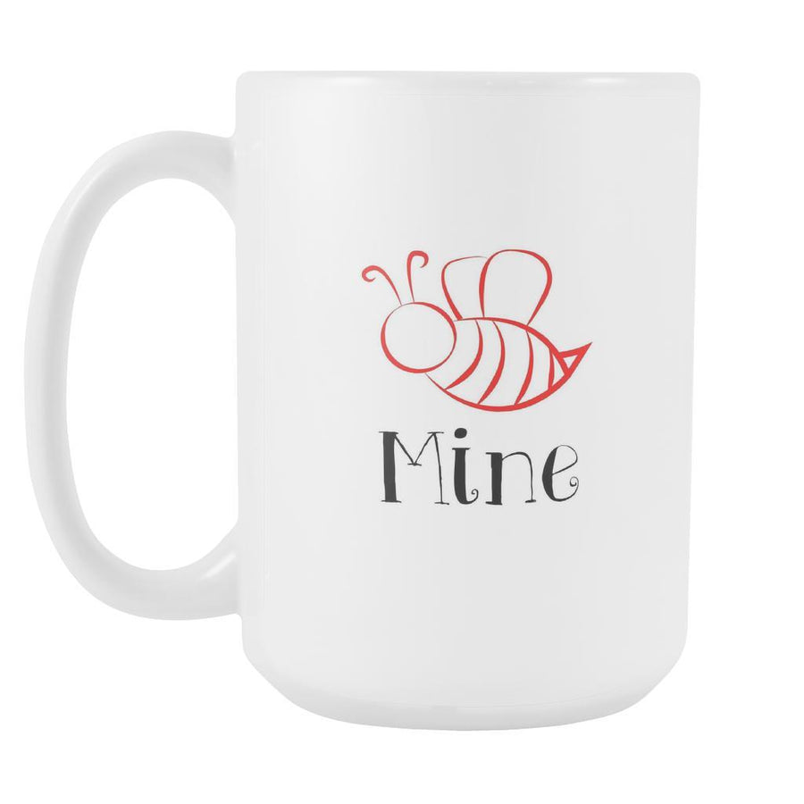 Valentine's Day Mug - Bee Mine-Drinkware-Teelime | shirts-hoodies-mugs