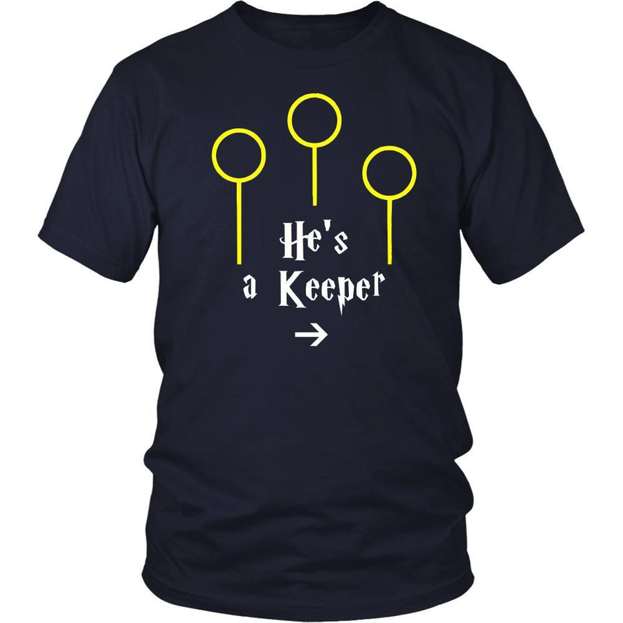 Valentine's Day T Shirt - He's a Keeper