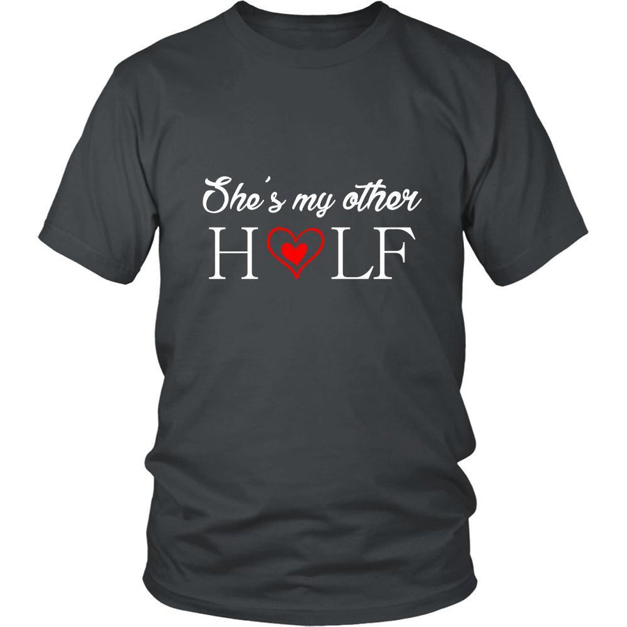 Valentine's Day T Shirt - She's my other half-T-shirt-Teelime | shirts-hoodies-mugs