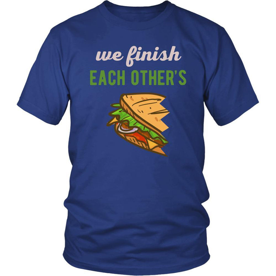 Valentine's Day T Shirt - We finish our sandwiches