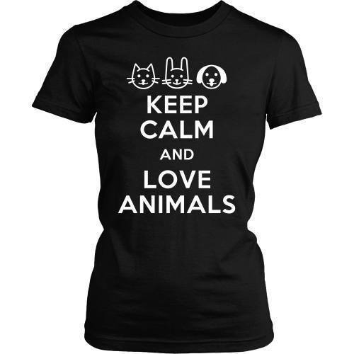 Vet Tech T Shirt - Keep calm and Love animals-T-shirt-Teelime | shirts-hoodies-mugs
