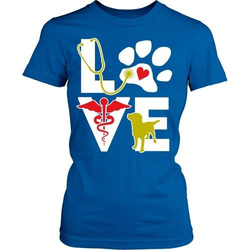 Vet Tech T Shirt - Veterinarian Love dog-T-shirt-Teelime | shirts-hoodies-mugs