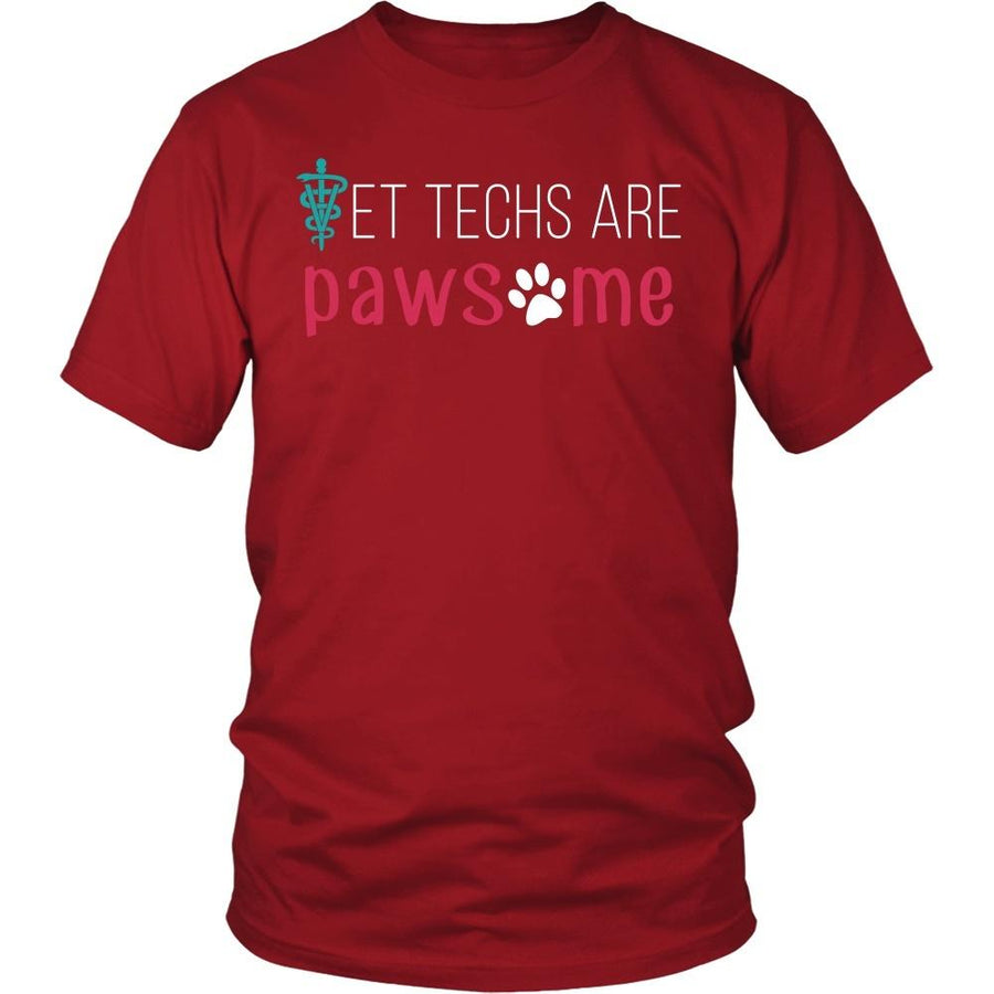 Vet Tech T shirts - Vet techs are pawsome-T-shirt-Teelime | shirts-hoodies-mugs
