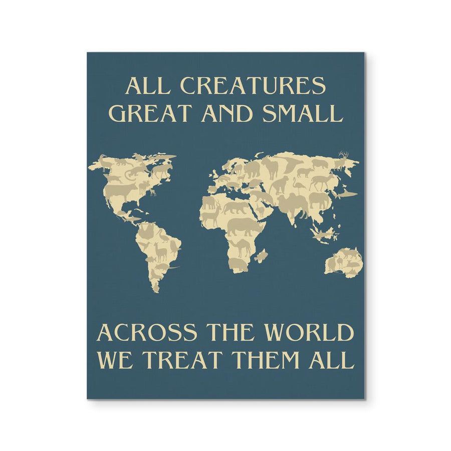 Veterinary Canvas - All creatures Great and Small We threat them all-Canvas Wall Art-Teelime | shirts-hoodies-mugs