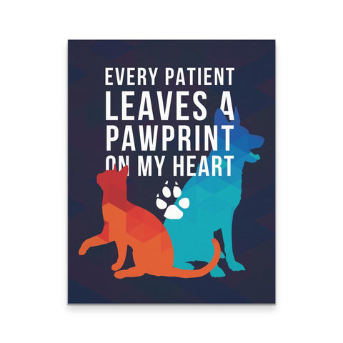 Veterinary Canvas - Every Patient Leaves a Pawprint Veterinary-Canvas Wall Art-Teelime | shirts-hoodies-mugs