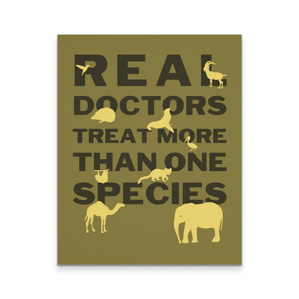 Veterinary Canvas - Real Doctors Treat more than one species-Canvas Wall Art-Teelime | shirts-hoodies-mugs