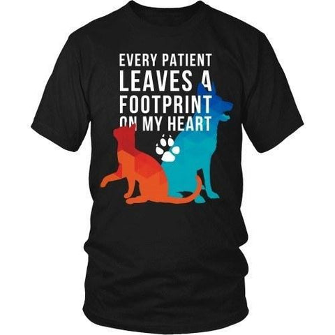 Veterinary T Shirt - Every patient leaves a footprint on my heart-T-shirt-Teelime | shirts-hoodies-mugs