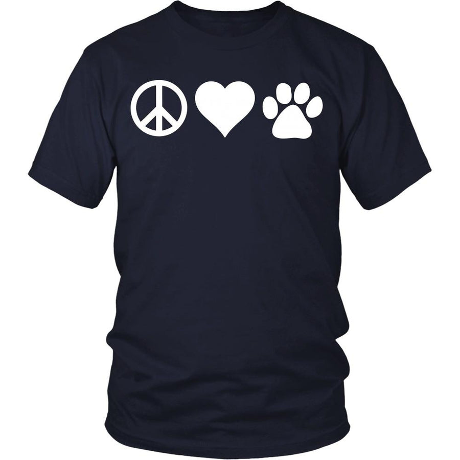 Veterinary T Shirt - Peace Love Paw-T-shirt-Teelime | shirts-hoodies-mugs