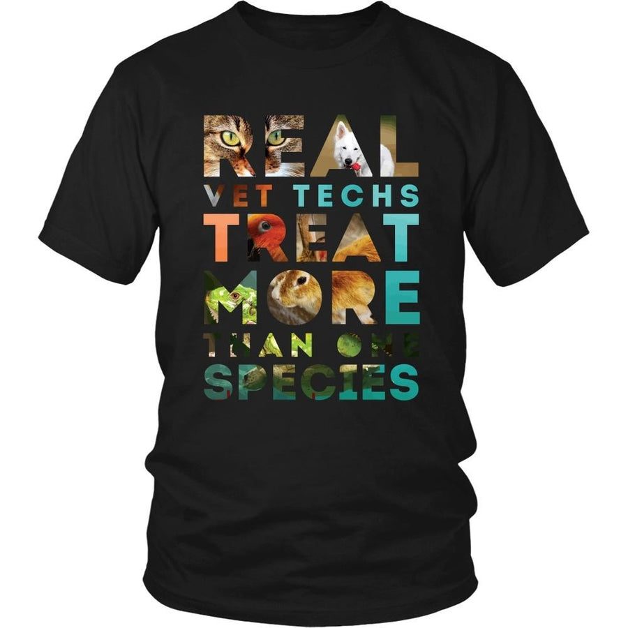 Veterinary T Shirt - Real Vet Techs treat more than one species-T-shirt-Teelime | shirts-hoodies-mugs