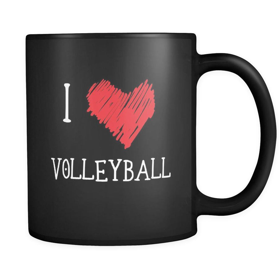 Volleyball I Love Volleyball 11oz Black Mug