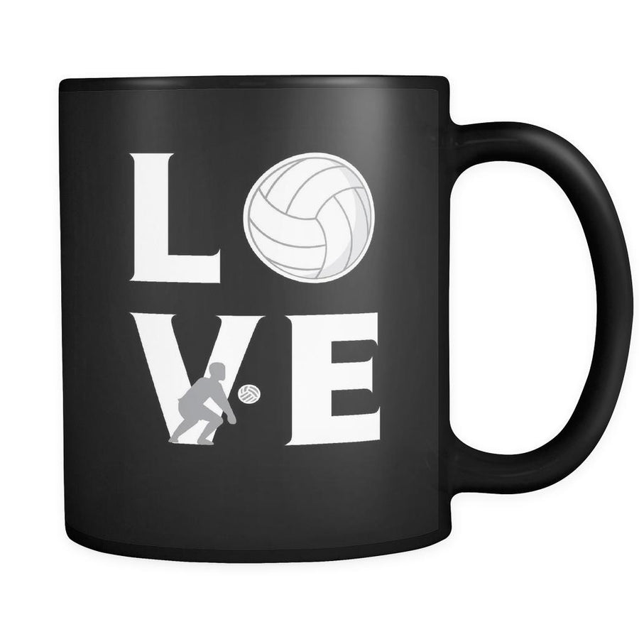 Volleyball  - LOVE Volleyball   - 11oz Black Mug
