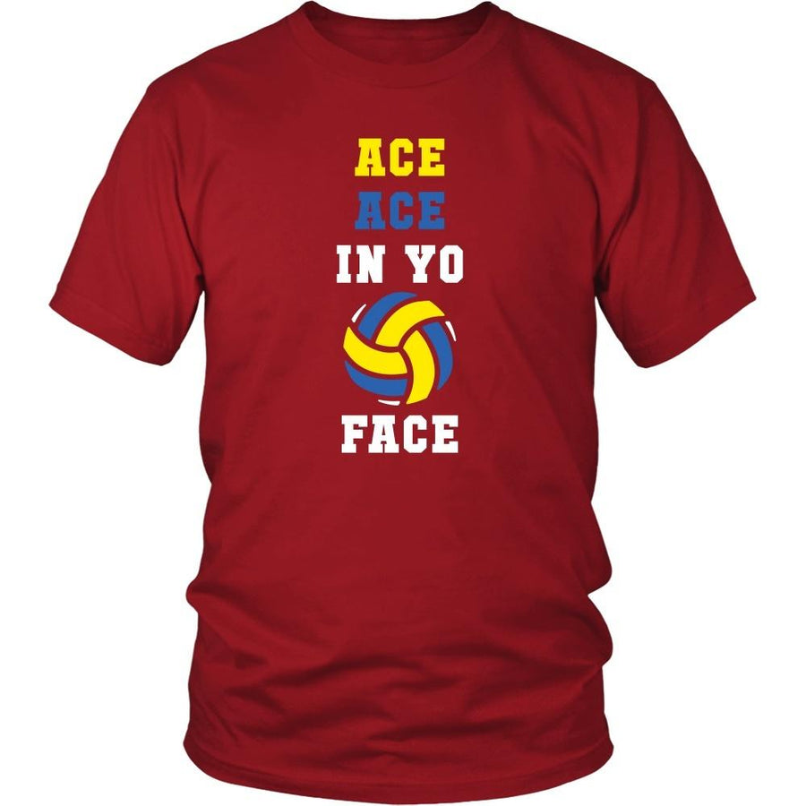 Volleyball T Shirt - Ace ace in yo face-T-shirt-Teelime | shirts-hoodies-mugs