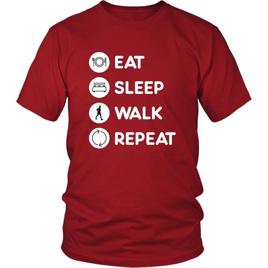 Walking  - Eat Sleep Walk  Repeat  - Walker  Hobby Shirt