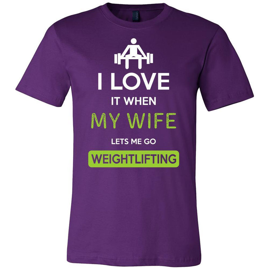 Weightlifting Shirt - I love it when my wife lets me go Weightlifting - Hobby Gift-T-shirt-Teelime | shirts-hoodies-mugs