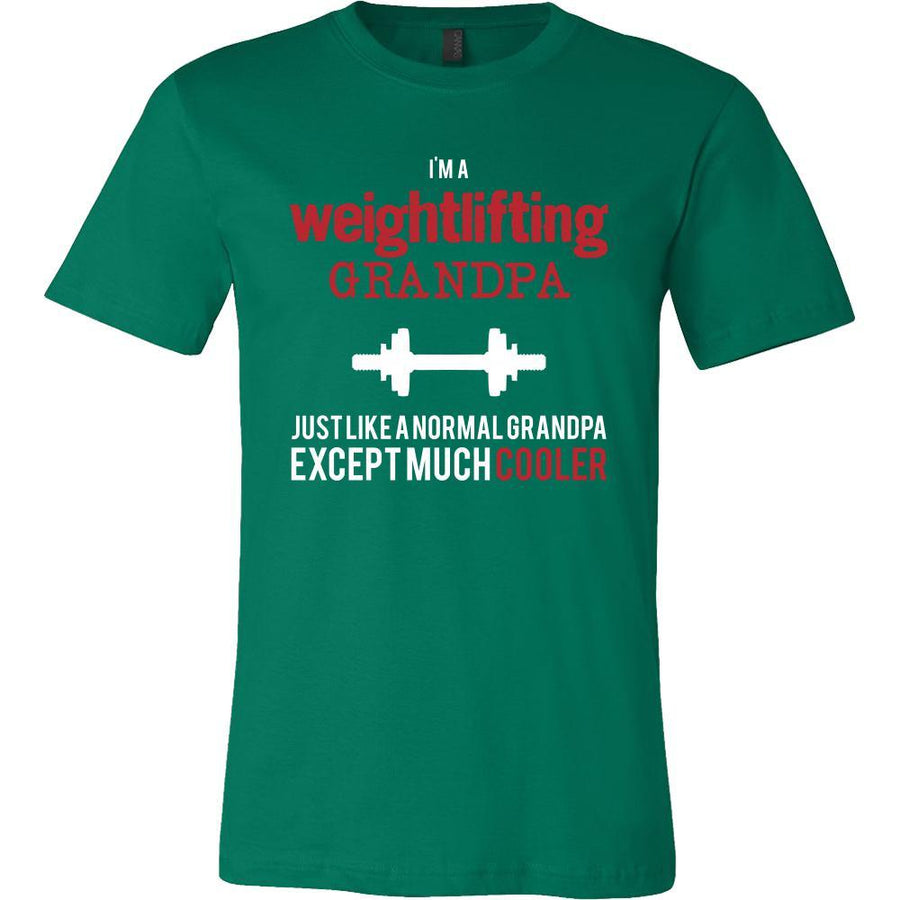 Weightlifting Shirt - I'm a weightlifting grandpa just like a normal grandpa except much cooler Grandfather Hobby Gift-T-shirt-Teelime | shirts-hoodies-mugs
