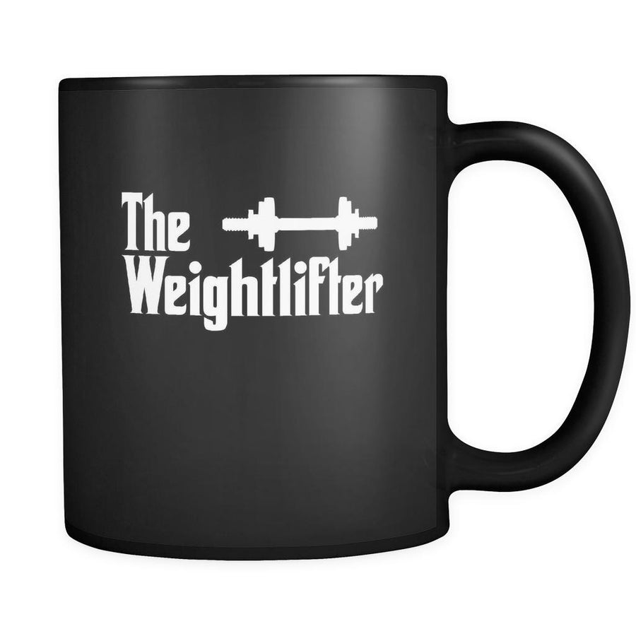 Weightlifting The Weightlifter 11oz Black Mug-Drinkware-Teelime | shirts-hoodies-mugs