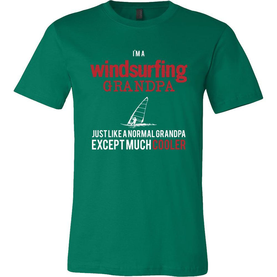 Windsurfing Shirt - I'm a windsurfing grandpa just like a normal grandpa except much cooler Grandfather Hobby Gift