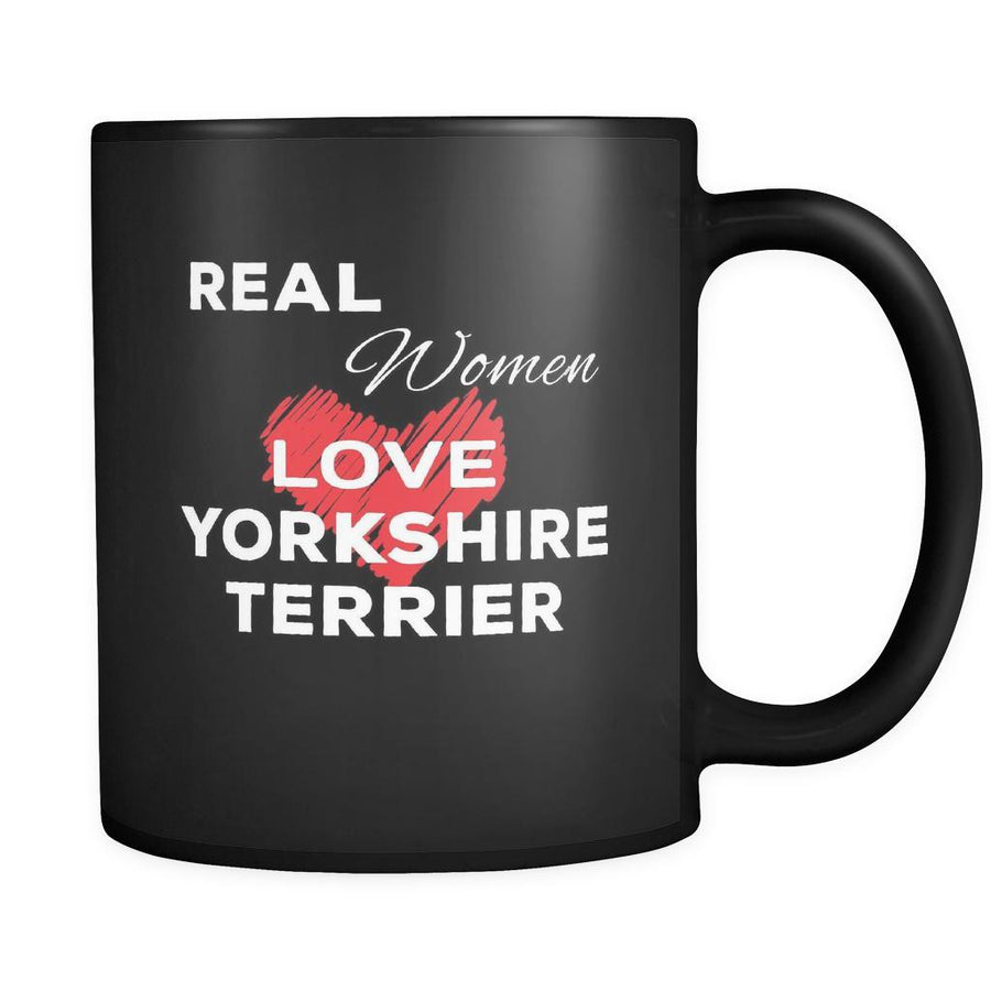 Yorkshire Terrier Real Women Love Yorkshire Terriers 11oz Black Mug
