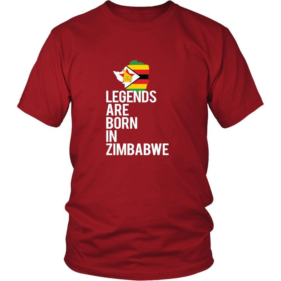 Zimbabwe Shirt - legends are born Zimbabwe - National Heritage Gift-T-shirt-Teelime | shirts-hoodies-mugs
