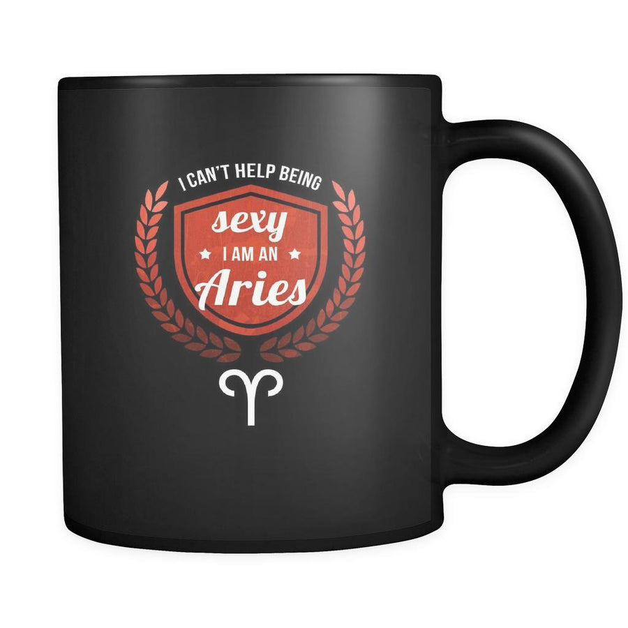 Zodiac I can't help being sexy I'm a aries 11oz Black Mug-Drinkware-Teelime | shirts-hoodies-mugs
