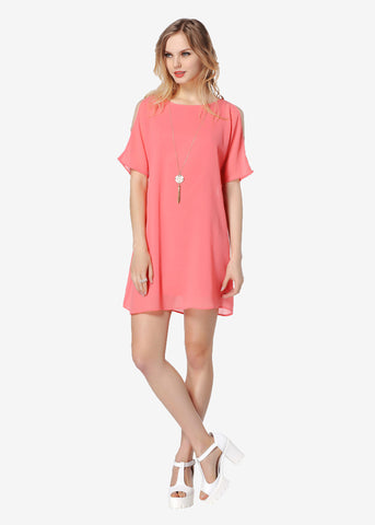 Open Shoulder Loose Fit Dress