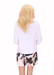 Jo Jo Waterfall White Blazer