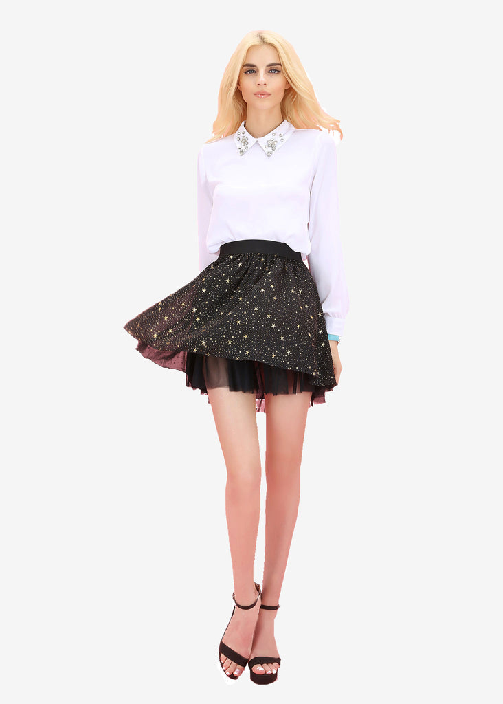 Rosie Gold Stars and Dots Skirt