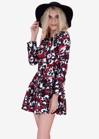 Katie Printed Trench Coat