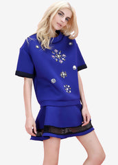 Rosie Embellished Oversize Top