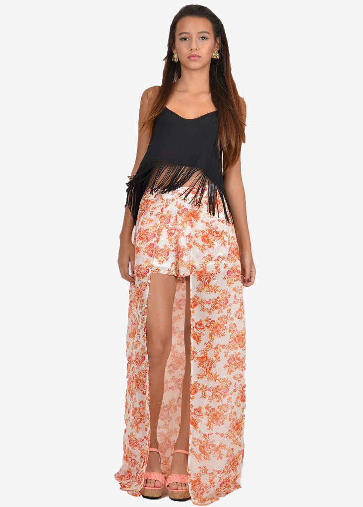 Miranda Shorts with Maxi Skirt