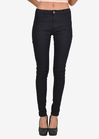 Jonie Mid Rise Black jeggings