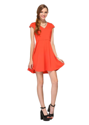 Jo Jo Wide Vee Neck Little Dress