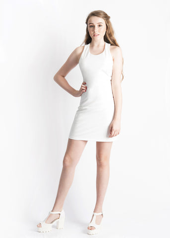 Margot Knot Back Straight-cut Dress