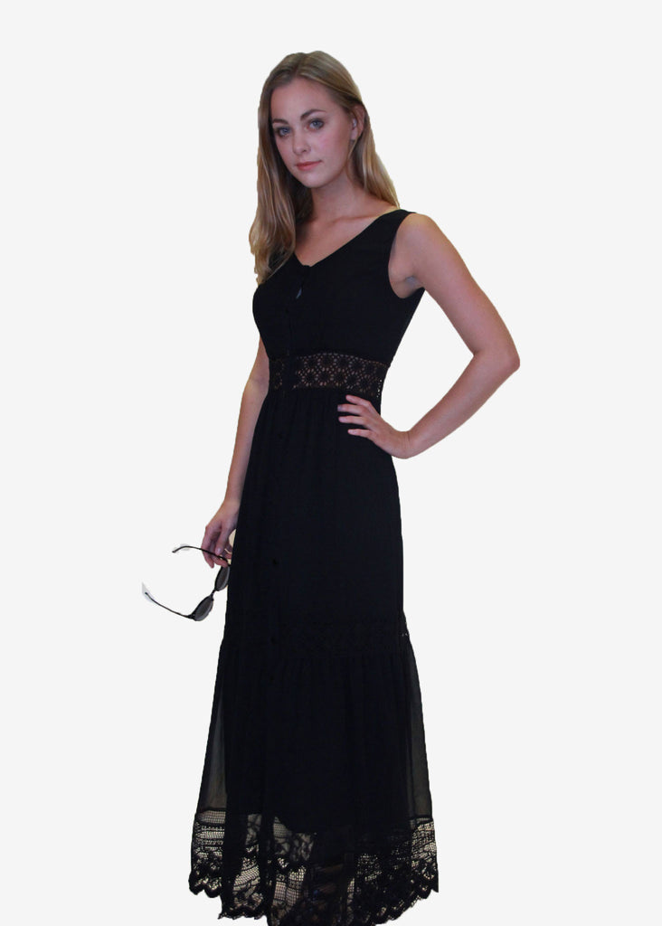 Nerita Lace Trimmed Maxi Dress