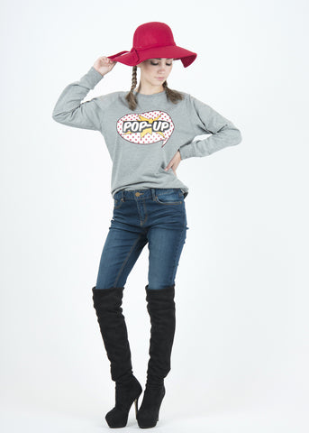 Pop-Up Bubble Sweatshirt