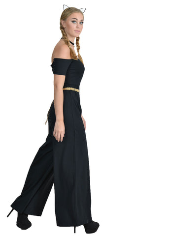 Leslie Off Shoulder Wide Leg Jumpsuit