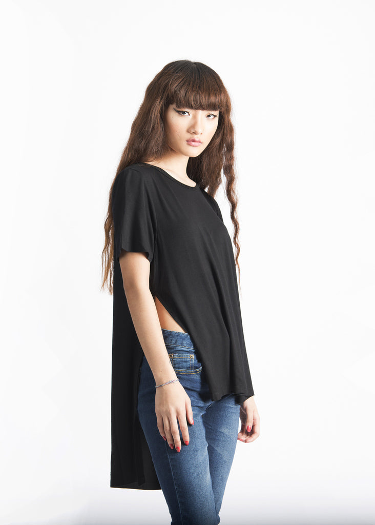 Long Slits and Tail Back Long Length Top
