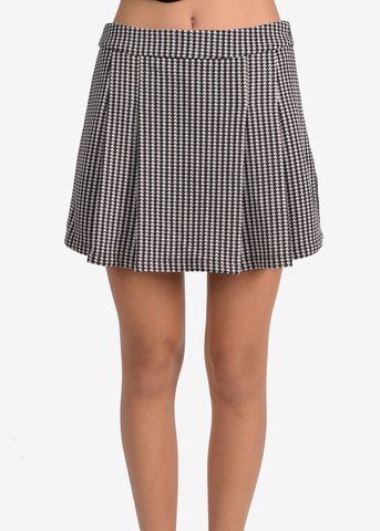 Houndstooth Skirt like shorts