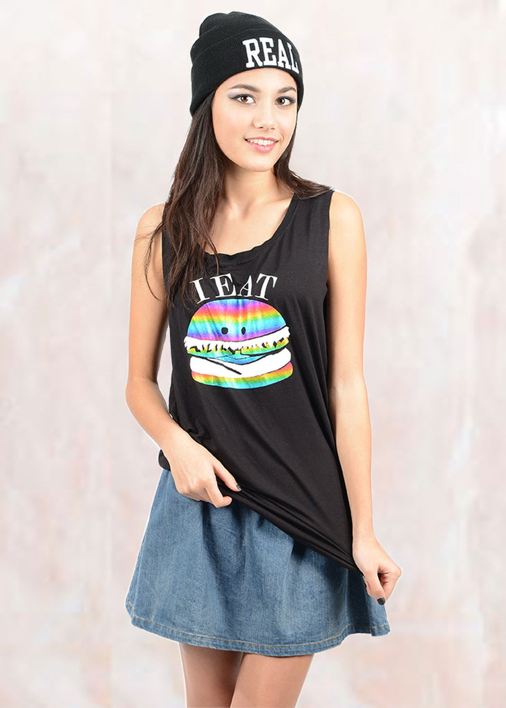 Hamburger Logo Oversized Tank