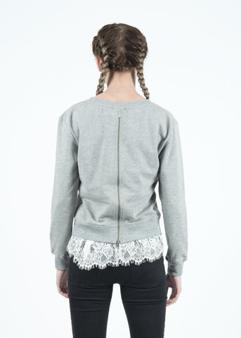 Jo Jo Lace Insert Back Sweatshirt