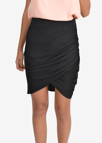 Ceci Asymmetric Twist Skirt
