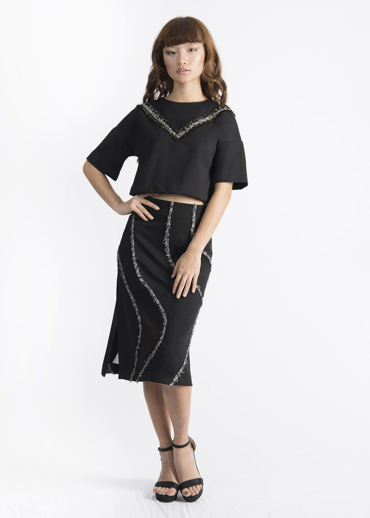 Trim Curved Skirt