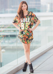 Chiffon Frontprint Dress