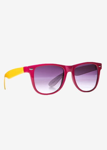 Fuschia Wayfarer Sunglasses