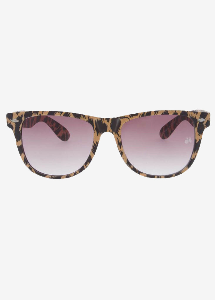 Cheetah Print Wayfarer Sunglasses