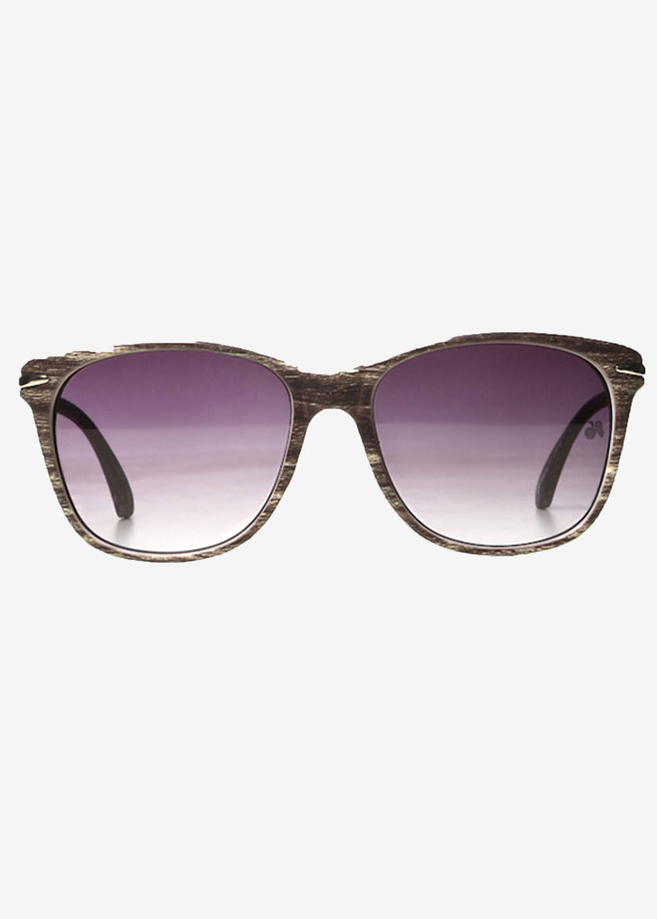 Wood Print Wayfarer Sunglasses