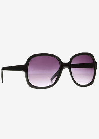 Black Oversized Preppy Square Sunglasses