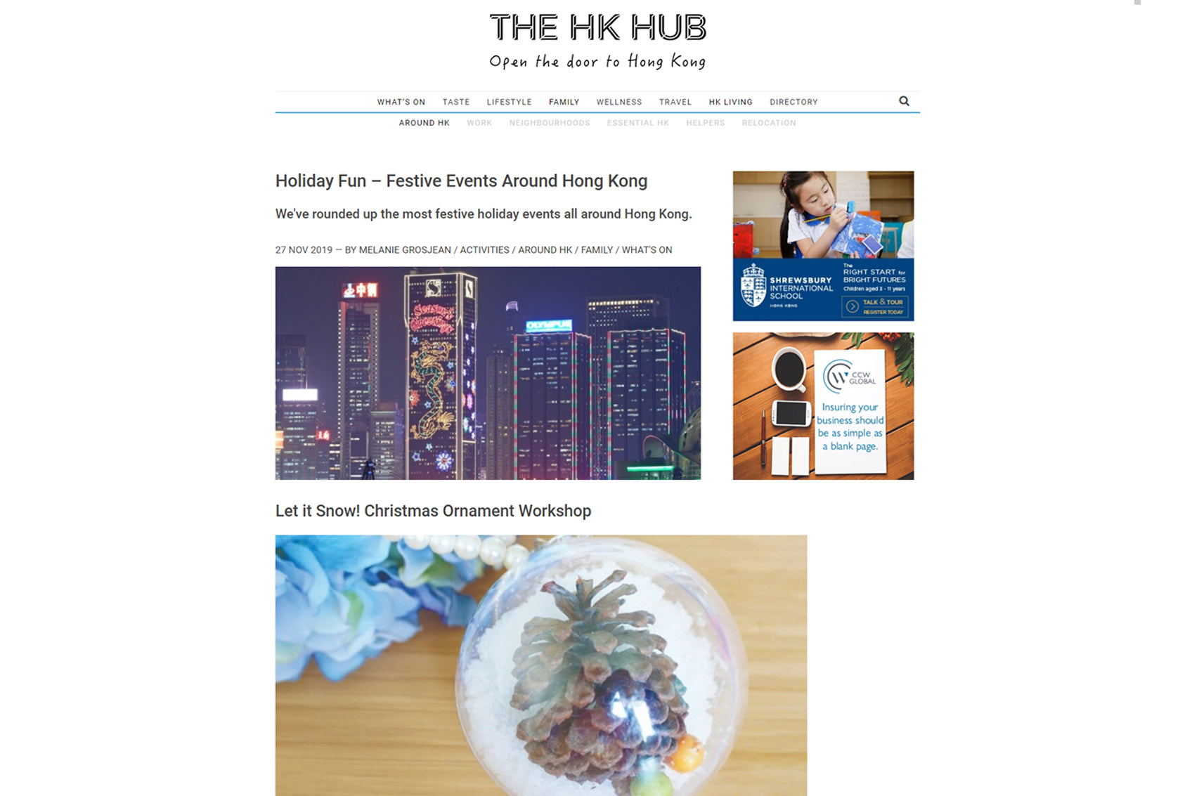 Featured in The HK Hub: Holiday Fun - Festival Events Around HK