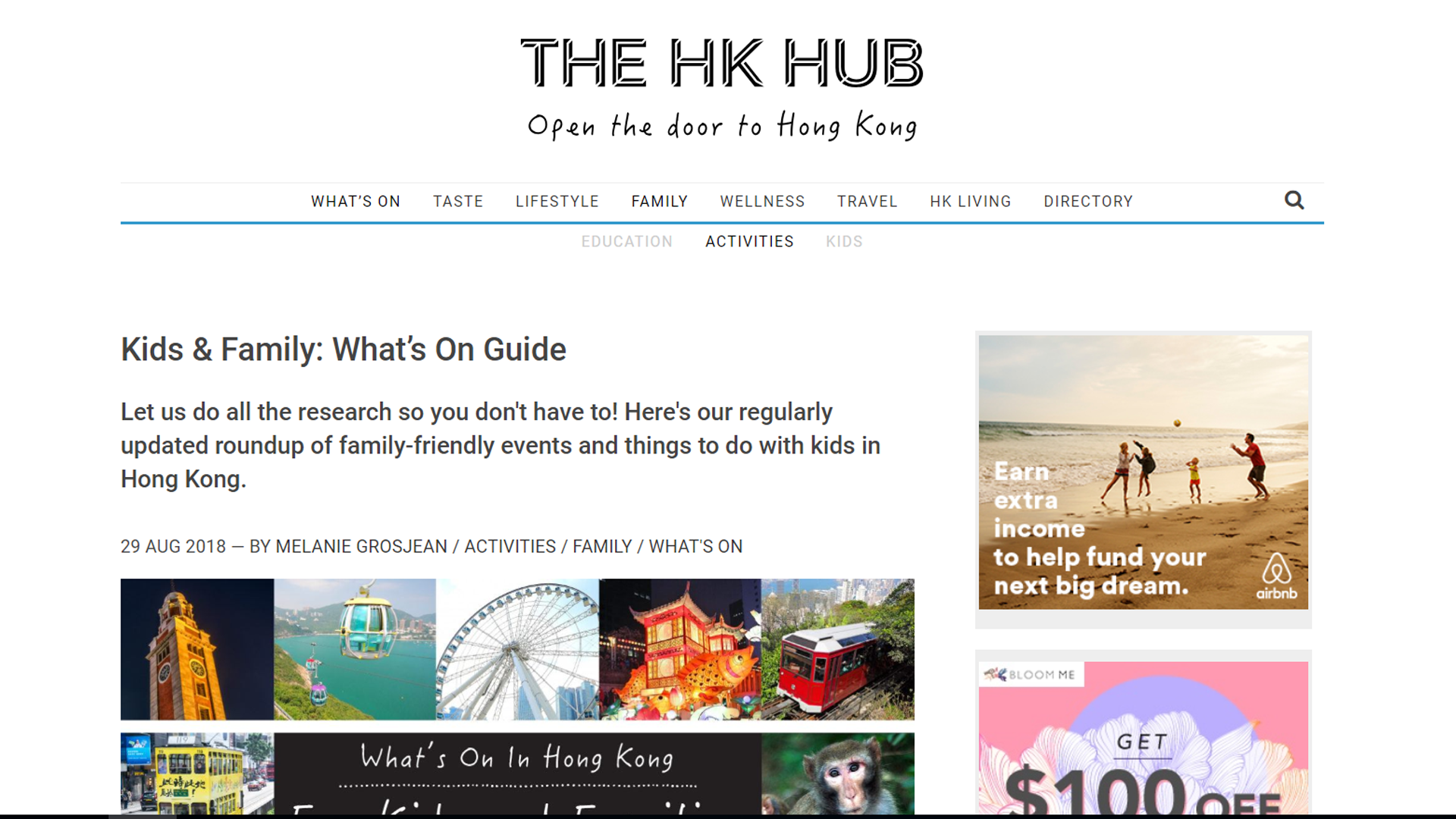 Featured in The HK Hub (Kids & Family: What's On Guide)